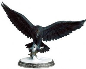 Game Of Thrones Official Collector's Models Three Eyed Raven Figurine Subscriber Special Eaglemoss